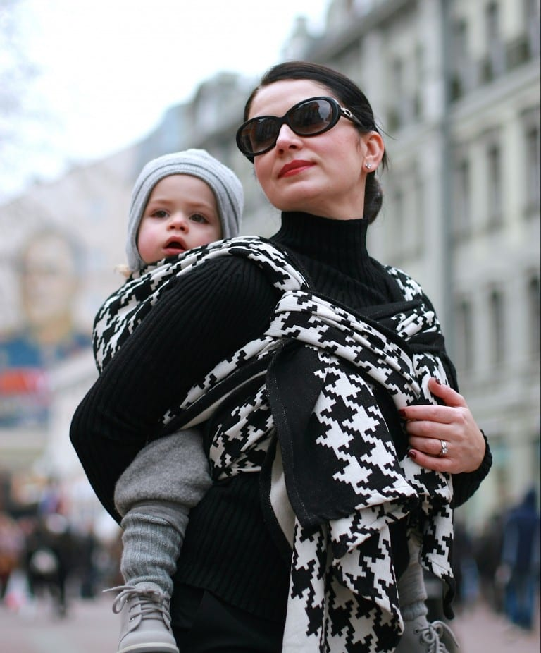 Amalia Saftoiu on babywearing as fashion statement
