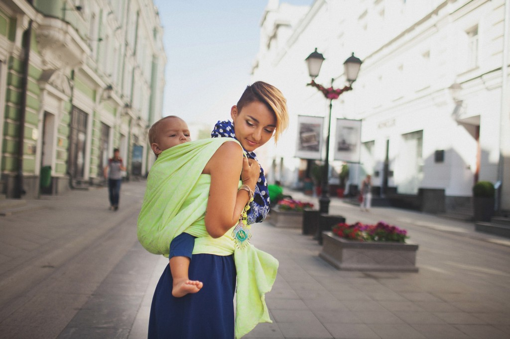 Beautiful baby wearing